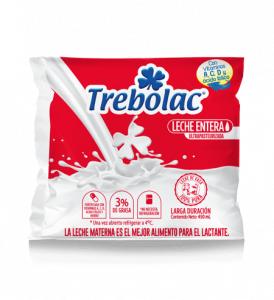Leche Entera Trebolac UHT 450ml