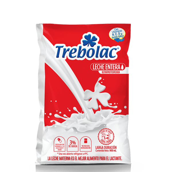 Leche Entera UHT Trebolac 900ml