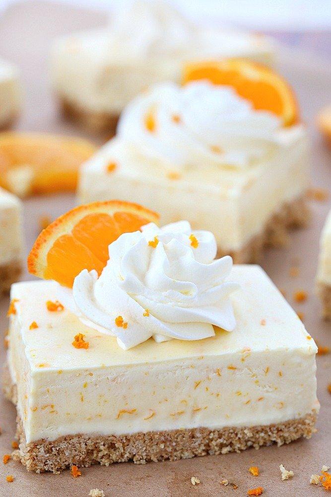 Pastel Suave de naranja
