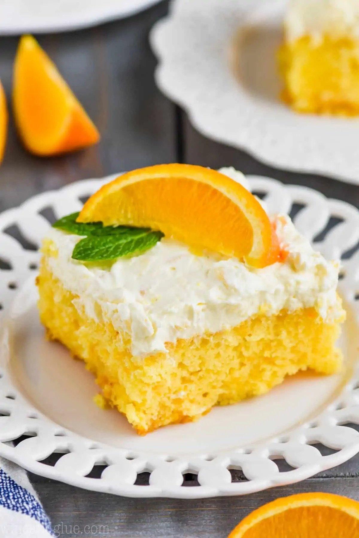 Pastel de Naranja y Mandarina