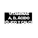 Vitaminas A, D, Ácido Fólico y Calcio Trebolac