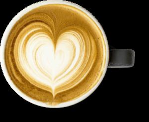Taza de leche con café Trebolac