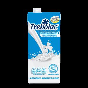 Trebolac leche Descremada tetra pak