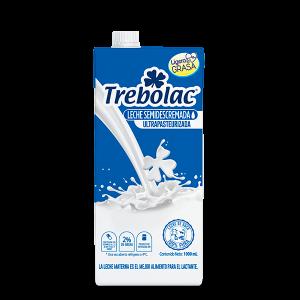 Trebolac leche semi descremada tetra pak