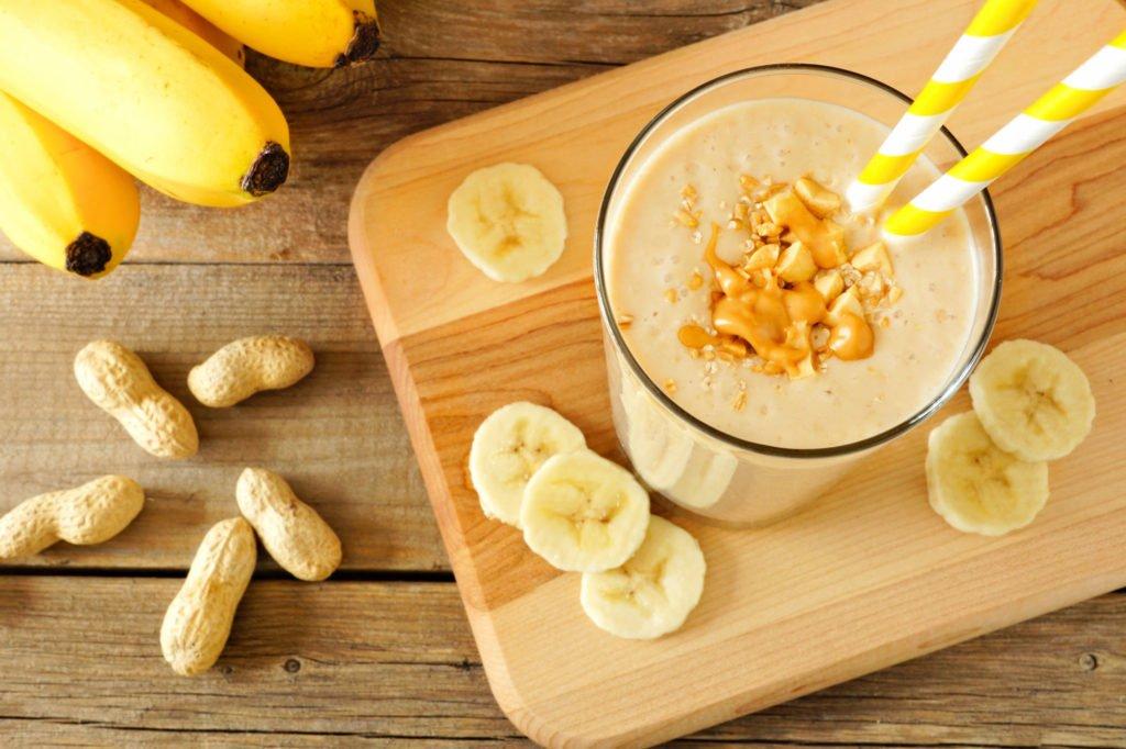 Batido de banano y mantequilla de maní Leche Trebolac