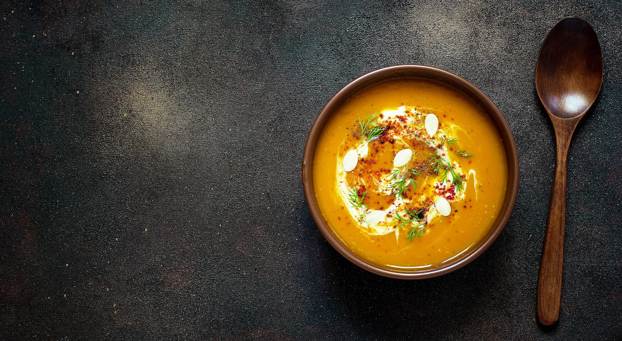 Crema de Zanahoria y Puerro con Crema Trebolac