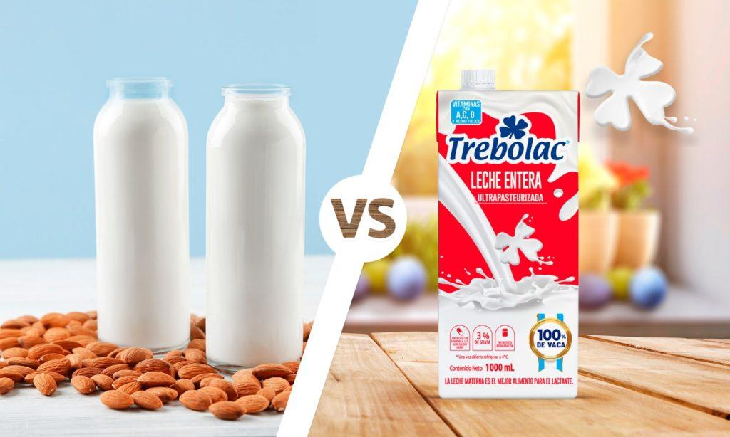 Diferencias entre leche y bebidas vegetales
