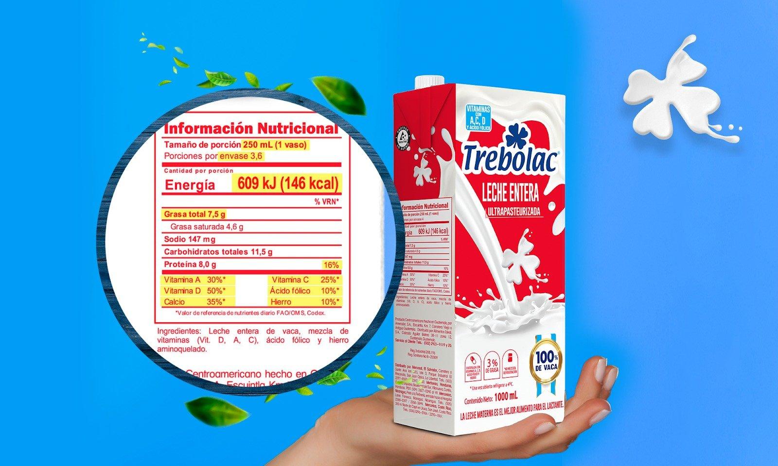 ¿Cómo leer la etiqueta nutricional de tus lácteos?