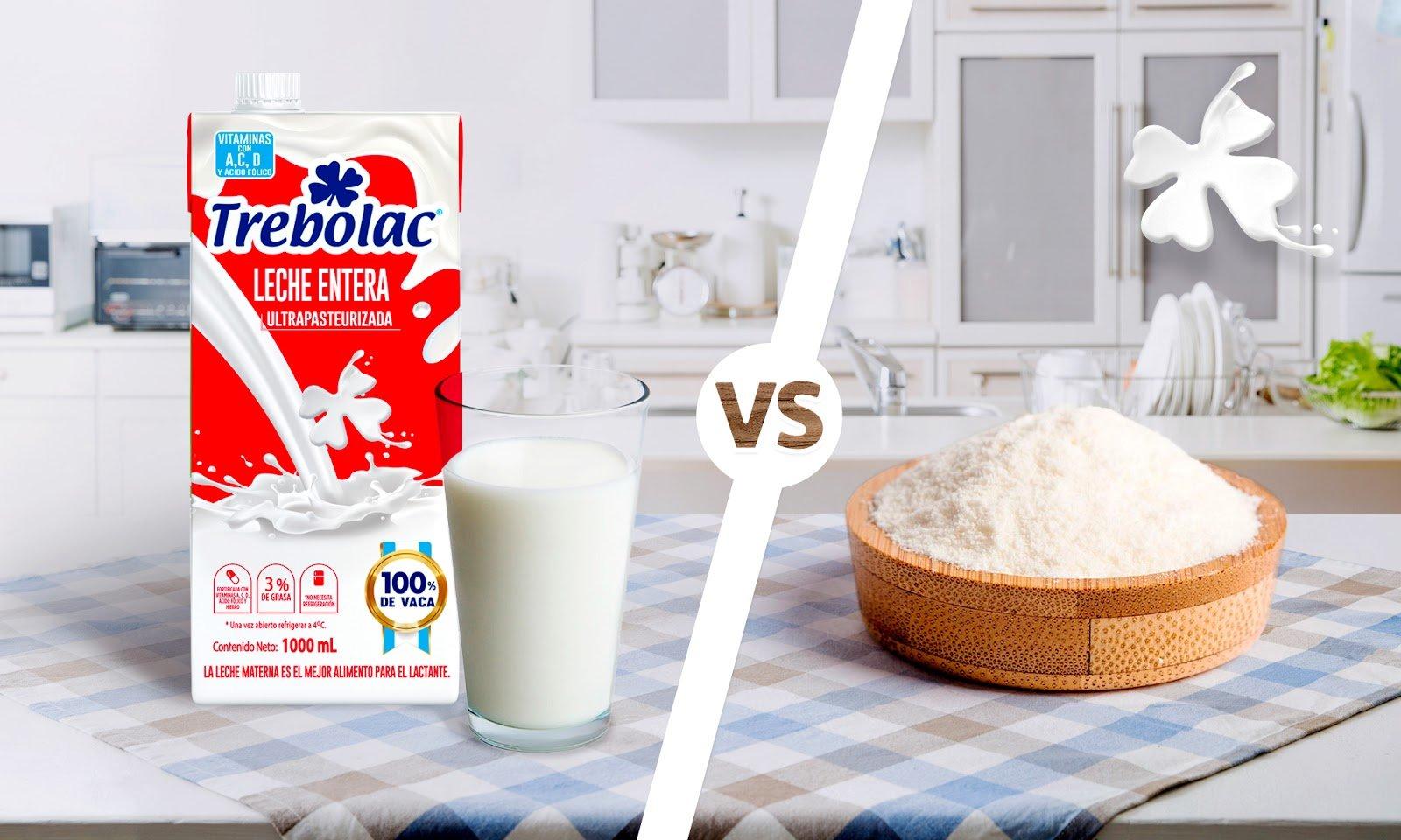 Leche fluida o leche en polvo ¿Qué es mejor? Leche en polvo. Leche líquida.
