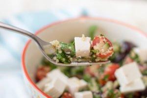 Ensalada de Quinoa, espinaca y tomate