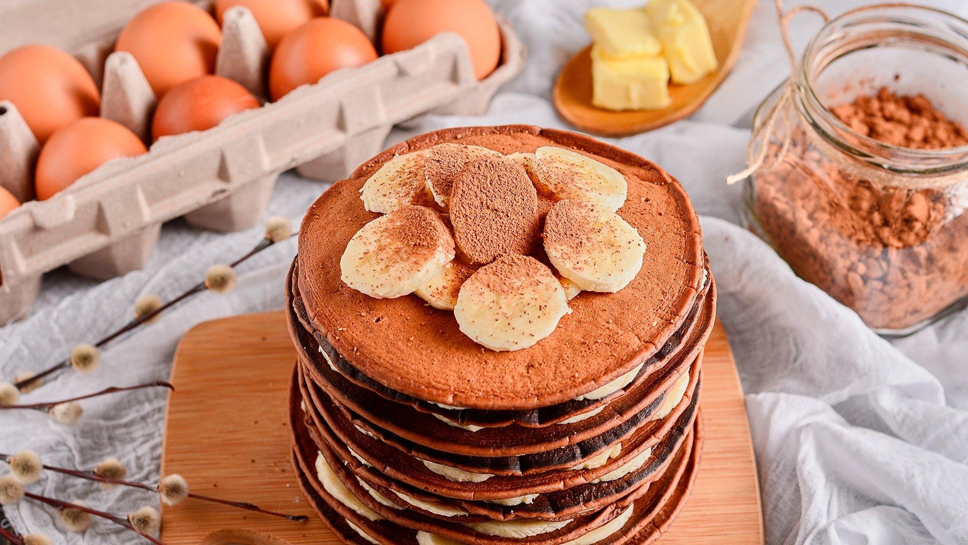 Montaña Panqueques de Chocolate y banano