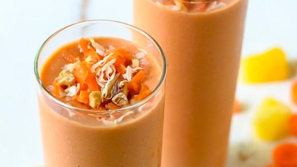 Smoothie de zanahoria y banano